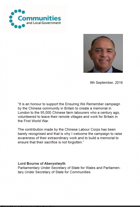 CLC Lord Bourne Message